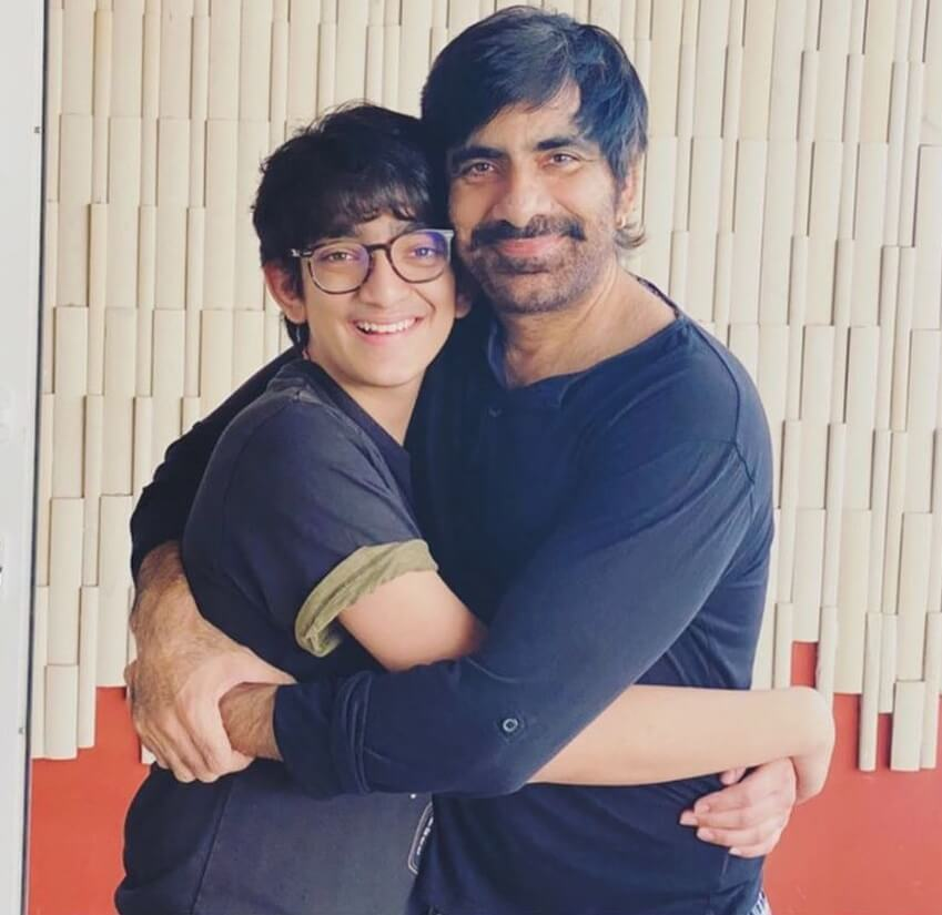 Ravi Teja with his Son Mahadhan Bhupatiraju