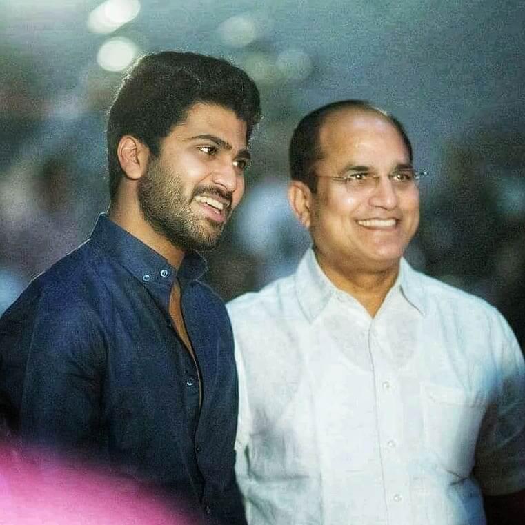 Sharwanand with his Father MRV Prasadar Rao