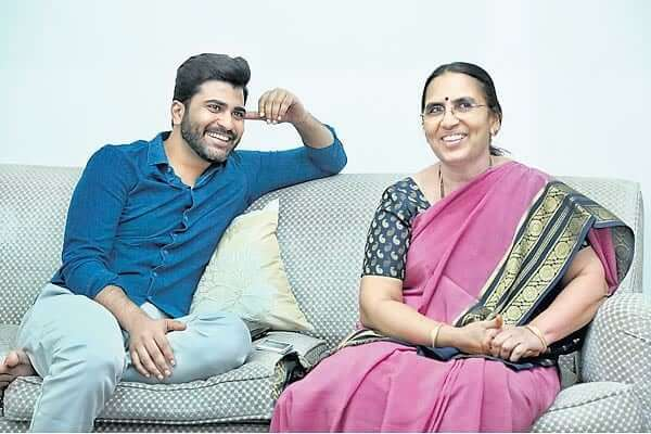 Sharwanand with his Mother Vaundara Devi