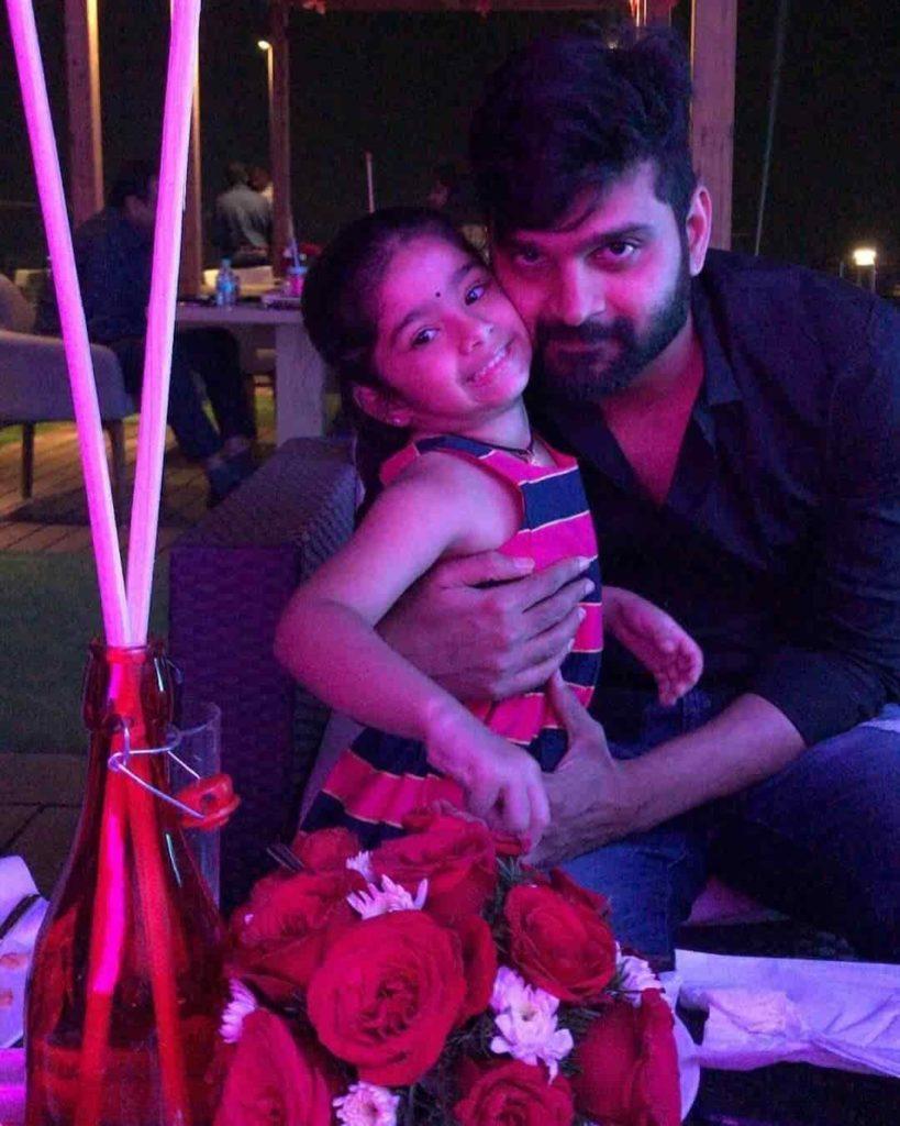 Sree Vishnu with his Daughter