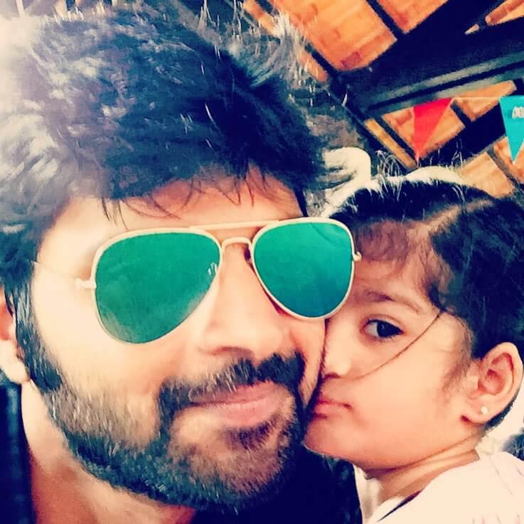 Sree Vishnu with his Daughter Mrida