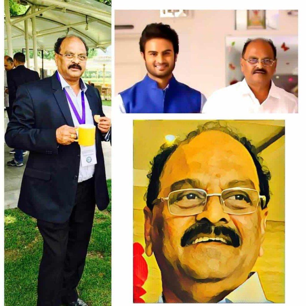 Sudheer Babu with his Father Posani Nageswara Rao