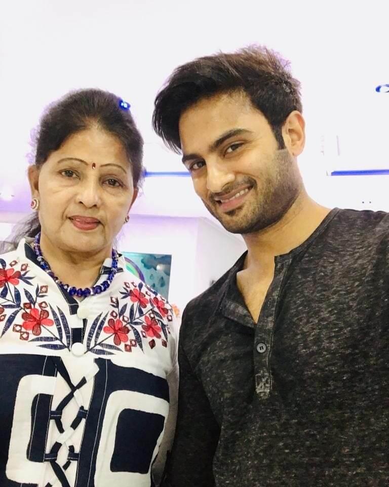 Sudheer Babu with his Mother Posani Rani