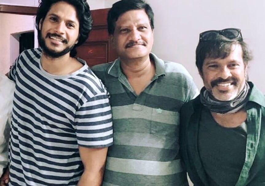 Sundeep Kishan with his Father and Uncle Chota K. Naidu