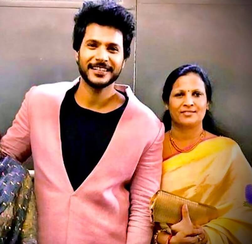 Sundeep Kishan with his Mother R. K. Durga