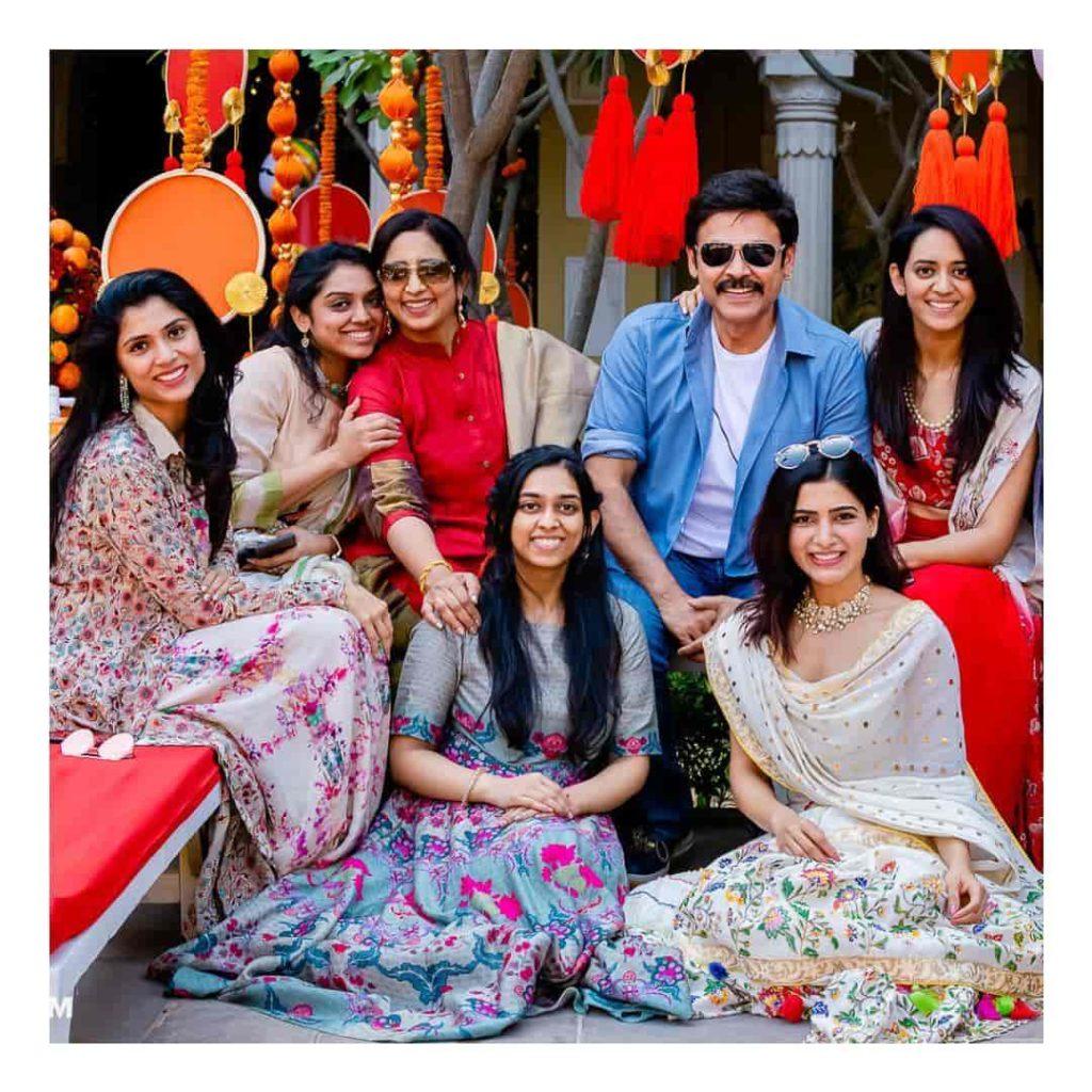 Venkatesh with his Wife Neeraja Daggubati and his Daughters