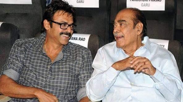 Venkatesh with his Father Ramanaidu Daggubati