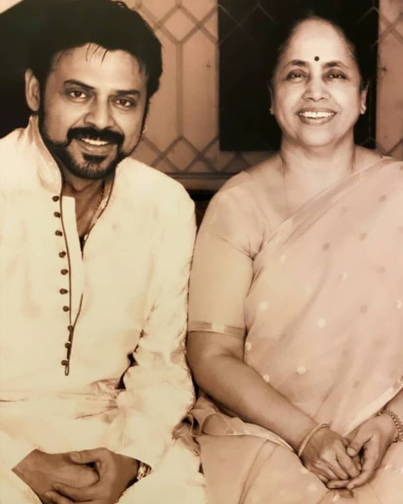 Venkatesh with his Mother Rajeswari Daggubati