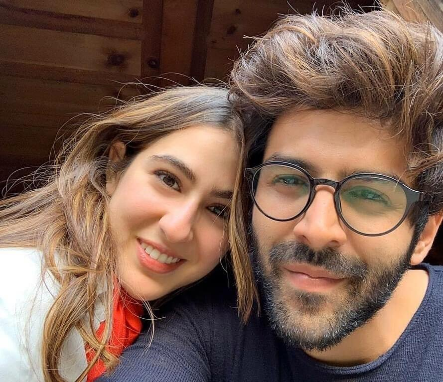 Kartik Aaryan with girlfriend Sara Ali Khan