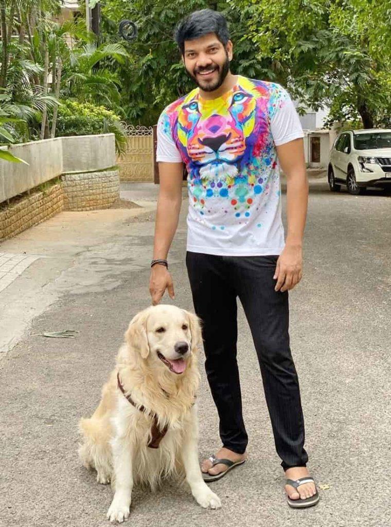 Noel Sean and His Pet Dog