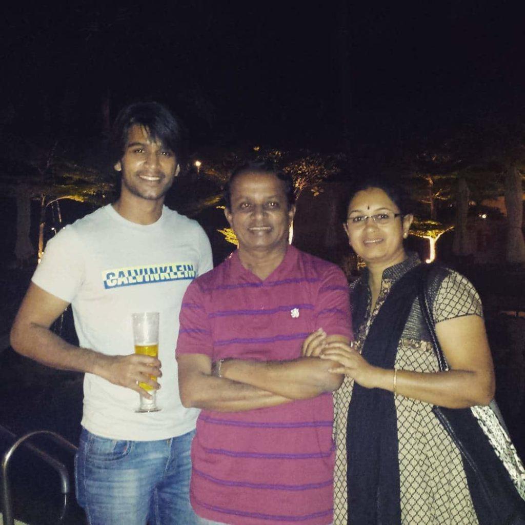 Abijeet Duddala With His Parents