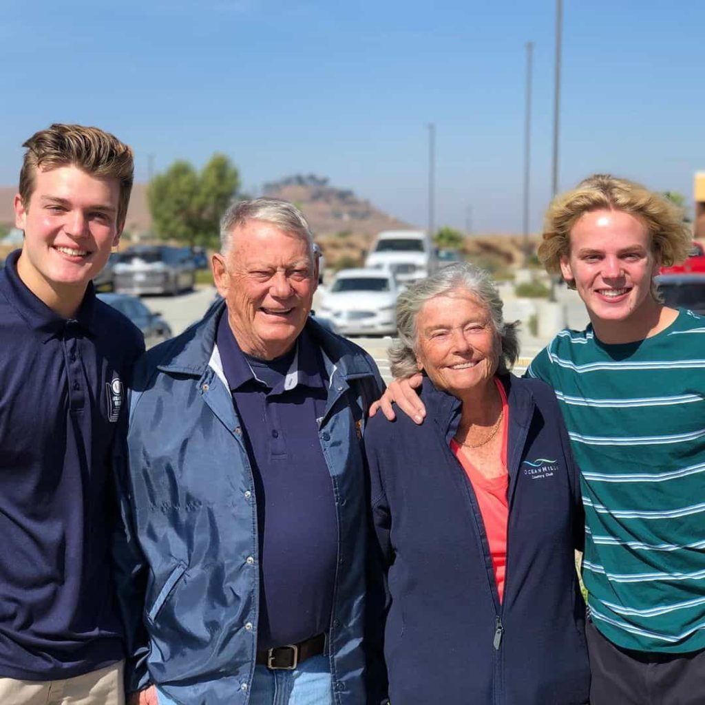 Jack Wright with his Grandparents