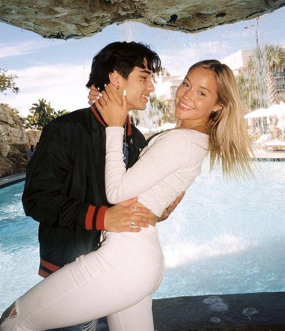Kio Cyr with his Ex Girlfriend Olivia Ponton