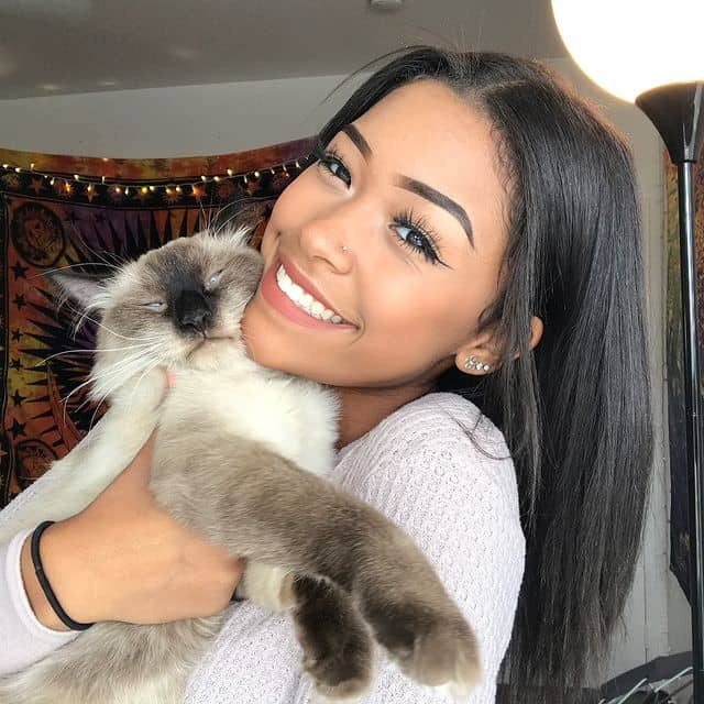 Leilani with her Pet Cat